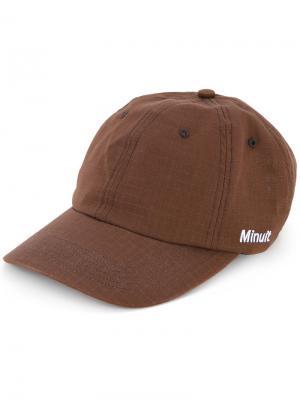 Logo embroidered cap Futur. Цвет: коричневый