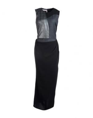 Длинное платье FRANKIE MORELLO. Цвет: стальной серый