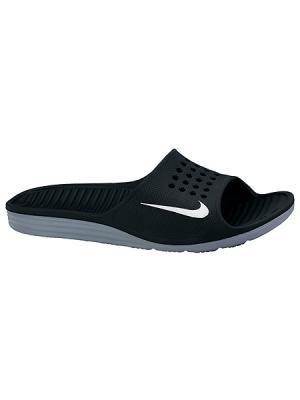 Шлепанцы SOLARSOFT SLIDE Nike. Цвет: черный, белый