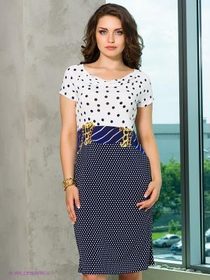 Платье Cellini. Цвет: синий