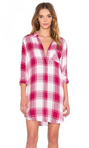 Платье на пуговицах sawyer Rails. Цвет: розовый