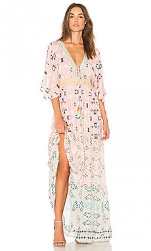 Макси платье HEMANT AND NANDITA. Цвет: розовый