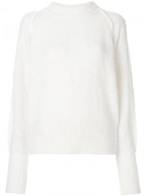 Укороченный вязаный свитер Vilde Designers Remix. Цвет: телесный