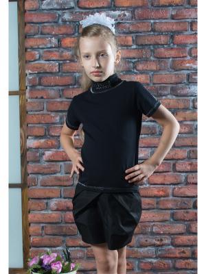 Блузка ZEBRA KIDS. Цвет: черный