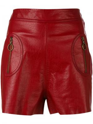 Короткие кожаные шорты Philosophy Di Lorenzo Serafini. Цвет: none