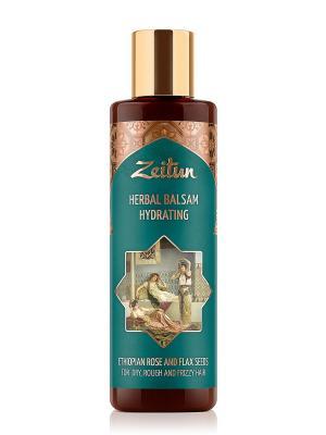 Увлажняющий фито-бальзам для сухих, жестких и кудрявых волос. С эфиопской розой льном Зейтун. Цвет: кремовый