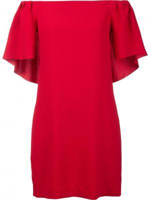 Платье Zeal с открытыми плечами Trina Turk. Цвет: красный