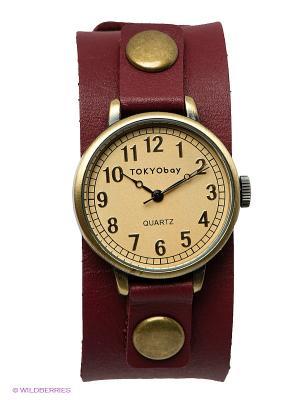 Часы TOKYObay. Цвет: бордовый