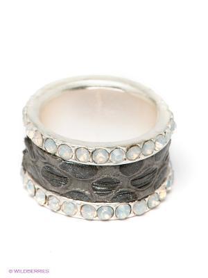 Кольцо Krikos. Цвет: серый, серебристый, белый