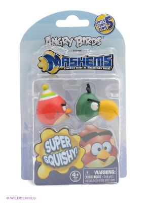 Детская игрушка Сердитые Птички,S5,  игрушки-мялки, 2 шт. в наборе ANGRY BIRDS. Цвет: зеленый, красный