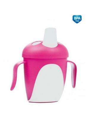 Чашка-непроливайка, 240 мл. Penguins 9+ Canpol babies. Цвет: розовый