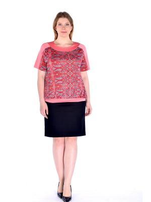 Блузка LikModa. Цвет: красный, розовый