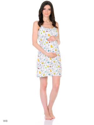 Сорочка женская для беременных и кормящих Hunny Mammy. Цвет: черный, белый, желтый