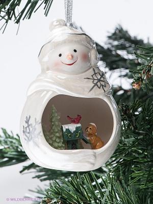 Веселый снеговик Pavone. Цвет: белый, серебристый