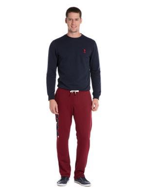 Брюки U.S. Polo Assn.. Цвет: бордовый