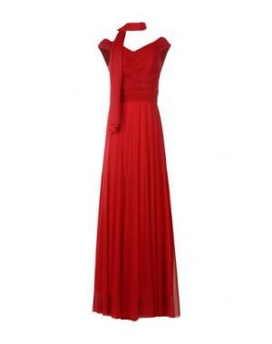 Длинное платье MUSANI COUTURE. Цвет: кирпично-красный