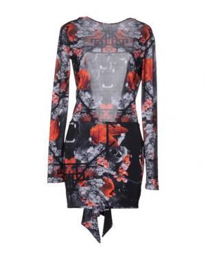 Короткое платье LES ÉCLAIRES. Цвет: свинцово-серый