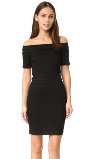Платье с открытыми плечами 3x1. Цвет: приглушенный черный