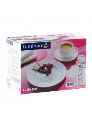 Набор кофейный Luminarc. Цвет: белый