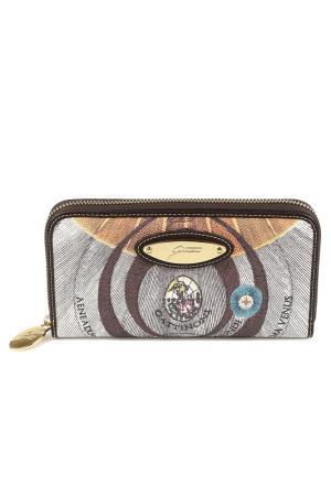 Wallet Gattinoni. Цвет: brown, beige, blue