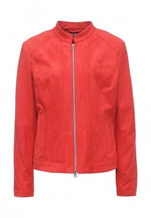 Куртка кожаная Betty Barclay. Цвет: красный