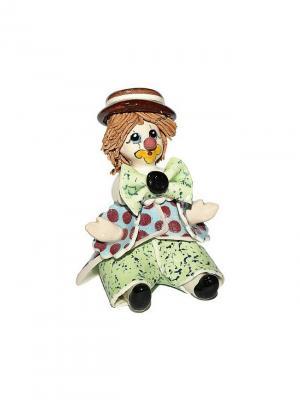 Статуэтка Клоун Zampiva. Цвет: зеленый, голубой, коричневый