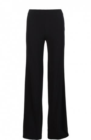 Расклешенные брюки с цельнокроеным поясом Diane Von Furstenberg. Цвет: черный