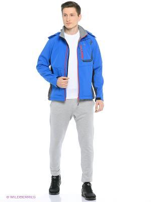 Куртка SOFTSHELL Trespass. Цвет: голубой
