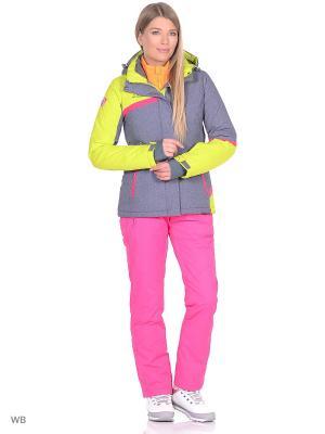 Куртка High Experience. Цвет: серо-голубой, салатовый