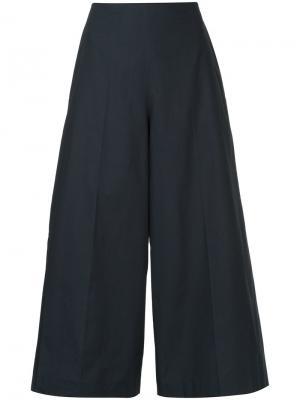 Широкие укороченные брюки Delpozo. Цвет: синий