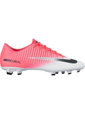 Бутсы MERCURIAL VICTORY VI FG Nike. Цвет: розовый, белый