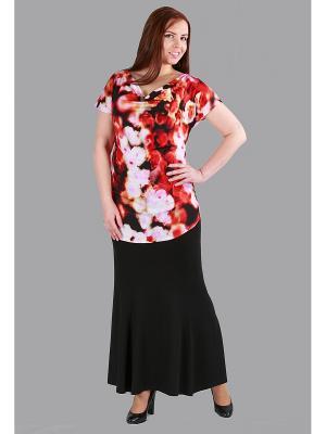 Блузка Yuliya Shehodanova. Цвет: красный, белый, розовый, черный