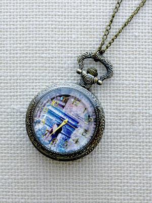 Кулон-часы Триумфальная арка Mitya Veselkov. Цвет: бронзовый