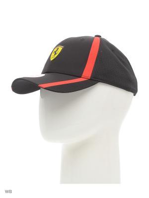 Бейсболка Ferrari Fanwear redline cap Puma. Цвет: черный