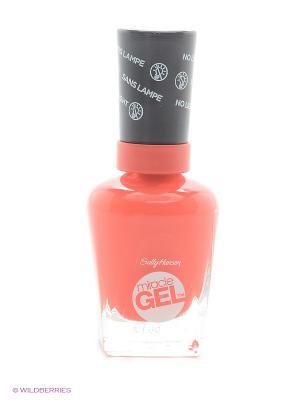 Гель лак для ногтей Miracle Gel, Тон 409 world wide red SALLY HANSEN. Цвет: коралловый