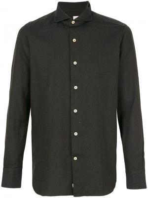 Классическая рубашка Alessandro Gherardi. Цвет: коричневый
