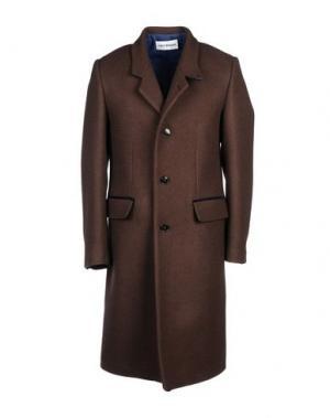 Пальто UMIT BENAN. Цвет: темно-коричневый