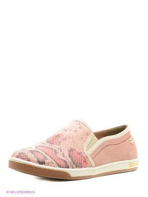 Слипоны Cravo&Canela. Цвет: розовый