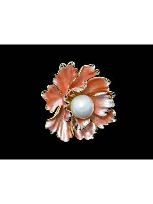Кольцо для платка Miss Bijou. Цвет: светло-коралловый,розовый,золотистый