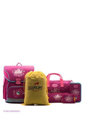 Ранец с наполнением  Сказочный замок DerDieDas. Цвет: розовый