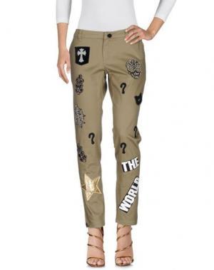 Джинсовые брюки SUPERPANTS. Цвет: зеленый-милитари
