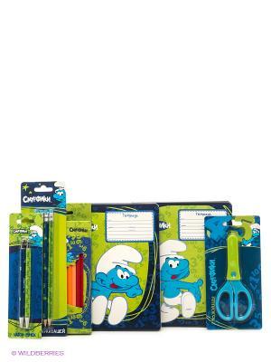 Набор для школы Смурфики. Цвет: синий