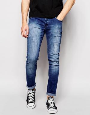 Loyalty & Faith Облегающие джинсы. Цвет: синий