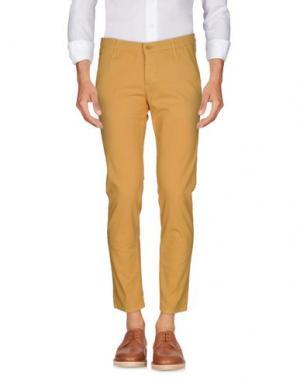 Повседневные брюки 0/ZERO CONSTRUCTION. Цвет: охра