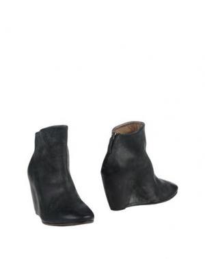 Полусапоги и высокие ботинки EL. Цвет: стальной серый