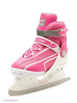 Коньки раздвижные ICE BLADE Ariel,. Цвет: розовый, белый