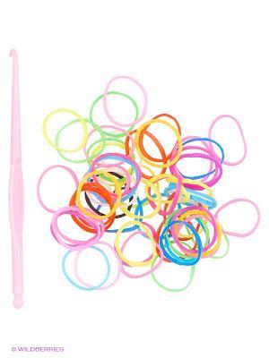 Набор для плетения Loom Bands. Цвет: бежевый, красный, желтый, зеленый, голубой