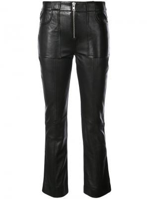 Укороченные байкерские брюки Ganni. Цвет: чёрный