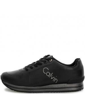 Черные кроссовки с вкладной стелькой Calvin Klein Jeans. Цвет: черный