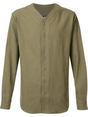 Рубашка без воротника Publish. Цвет: зелёный
